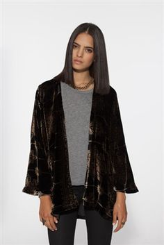 Chaser Velvet Kimono Jacket