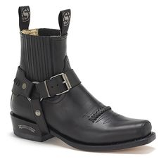 new product 96b96 c5f55 This pair of Sendra harness boot in classic biker fashion features smooth  black leather and is handmade in Spain. Available at Western Boot Barn.