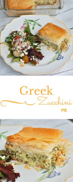 Golden crisp on the outside, light and fluffy on the inside, this savory zucchini pie with mint speaks summer. Side Recipes, Lunch Recipes, Vegetable Recipes, Healthy Dinner Recipes, Turkish Recipes, Greek Recipes, Zucchini Pie, Greek Cooking, Healthy Side Dishes