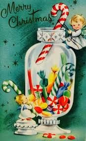 Image result for vintage christmas cards christmas windows