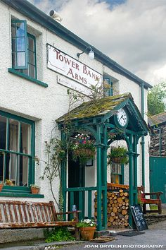 Tower Bank Arms at Near Sawrey which featured in 'The Tale of Jemima Puddleduck' by Beatrix Potter. Lake District, Cumbria, UK