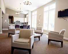 Our Forté™ Lounge furniture at Airmount Woods, a residence for adults with autism in Ramsey, New Jersey. Healthcare Furniture. Behavioral Health Furniture. Roto Mold Furniture, Rotationally Molded Furniture
