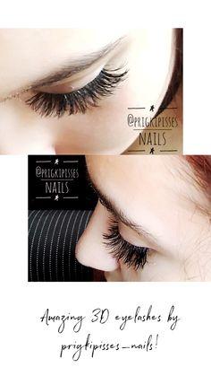 Amazing eyelashes only by prigkipisses_nails! Mani Pedi, Eyelashes, 3d, Nails, Amazing, Collection, Lashes, Finger Nails, Ongles