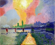 Charing Cross Bridge. André Derain was a French artist, painter, sculptor and co-founder of Fauvism with Henri Matisse