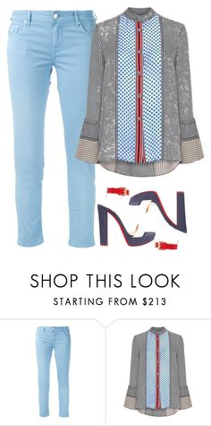 """""""Color Mix"""" by ella178 ❤ liked on Polyvore featuring Jacob Cohёn, 10 Crosby Derek Lam, Christian Louboutin, stylish, colorful, summertofall and colormix"""