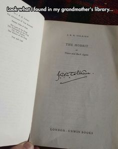 Tolkien signed copy of The Hobbit.