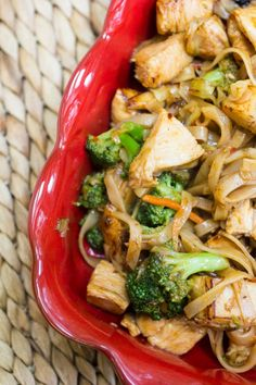 Spicy Honey Sriracha Chicken and Rice Noodles