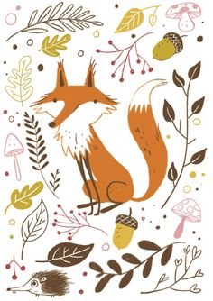 Erica Salcedo - Fox Floral Autumn Fall