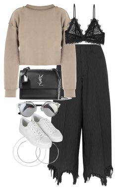 """""""Untitled #2058"""" by sophiasstyle ❤ liked on Polyvore featuring Facetasm, My Mum Made It, Anine Bing, Yves Saint Laurent and Topshop"""