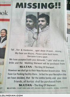 Creative sherwani ad
