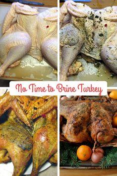 No Time to Brine Turkey Technique Alton Brown Turkey, Defrosting Turkey, Alton Brown Chicken Wings, Thanksgiving Recipes, Holiday Recipes, Bobby Flay Recipes, Turkey Brine, Big Meals, Chicken Wing Recipes