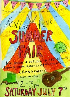 My son's Torriano joint school summer fair coming up next weekend. I will be doing a craft activity with the kids, of course!