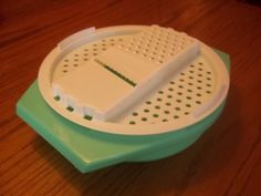 Vintage Tupperware Greater and Slicer with Bowl in 1970s green on Etsy, $3.00