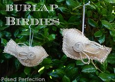 burlap christmas tree ornaments birds | ... tree as well? Check out these adorable chalkboard art ornaments from