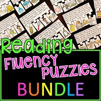 Reading fluency passages puzzles bundle: Reading fluency made fun with this bundle of all my reading fluency puzzles! Students read the story and put the events of the story in order to practice sequencing to complete each puzzle! First Grade Reading Comprehension, Phonics Reading, Teaching Phonics, Phonics Activities, Writing Activities, Language Activities, Reading Resources, Teaching Child To Read, Teaching Money