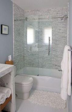 awesome 50 Beautiful Bathroom Frameless Shower Glass Enclosure https://matchness.com/2018/01/09/50-beautiful-bathroom-frameless-shower-glass-enclosure/