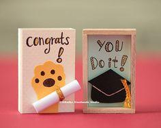 Graduation card,congratulations card,matchbox card,class of 2018,college grad gift,high school graduation,congrats card,graduation gift