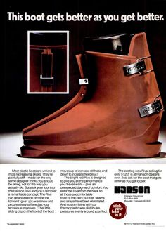 Hanson - SKI Dec 1972 Plastic Boots, Ski Gear, Alpine Skiing, Vintage Ski, High Level, Snow, Logos, History, Retro