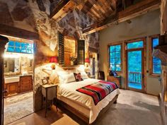 Spacious rustic master bedroom! #masterbedrooms ...