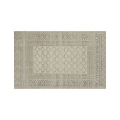 Rosalie Neutral Hand Knotted  Oriental 5'x8' Rug - Crate and Barrel