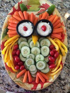 Owl veggie tray