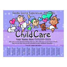 Child Care. Babysitting. Day Care. Tear sheet | Day care ...