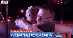 Las Vegas Shooting Victim Reunites With Hero Who Saved His Life