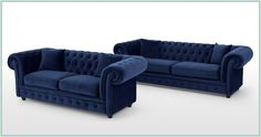Tips That Help You Get The Best Leather Sofa Deal. Leather sofas and leather couch sets are available in a diversity of colors and styles. A leather couch is the ideal way to improve a space's design and th Best Leather Sofa, Chesterfield Couch, Blue Sectional Couch, Chesterfield Sofa, Green Sofa Living Room, Blue Velvet Sofa, Blue Sofa, Sofa, L Shaped Sofa Bed