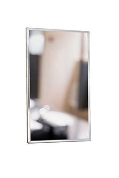 """Meek Mirrors M1210 1824 Stainless Steel Angle Frame Mirror, Satin Finish, 18""""W X 24""""H -- Click on the image for additional details."""
