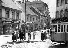 Berlin Spandau, Potsdamer Strasse mit Strassenbahn der Linie 54 (1935)