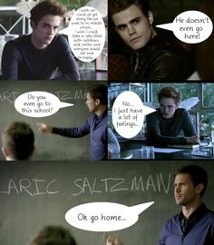 The Vampire Diaries - Mean Girls...I just find it too funny that the second picture of Edward looks like he has little fairy wings