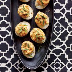 Sriracha-and-Wasabi Deviled Eggs | Food & Wine