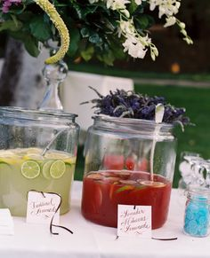 Don't have spigot beverage servers? Use these inexpensive glass containers as punch bowls.