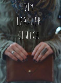 DIY leather clutch video & instructions on http://www.ashressaday.com/2013/01/23/diy-leather-clutch/