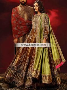 Auburn Dahlia Get ready to enchant everyone in this amazing anar Anarkali Bridal, Designer Bridal Lehenga, Designer Wedding Dresses, Wedding Dresses London, Pakistani Wedding Outfits, Pakistani Dresses, Bridal Tops, Royal Dresses, Indian Bridal Wear