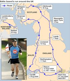 Eddie Izzard ran 43 marathons in 51 days for charity with only 5 weeks training