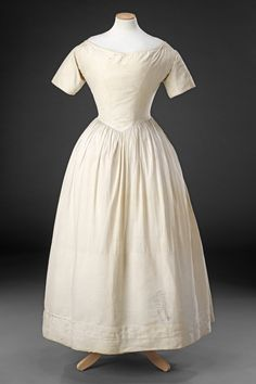 Bodiced petticoat, corded from the knees down; British, ca 1840's. The John Bright Collection, nr. ?
