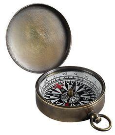 One Kings Lane - Come Sail Away - Pocket Compass, Bronze