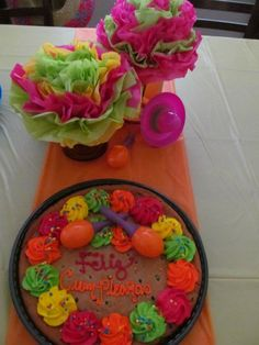 Cookie cake and cinco de mayo fiesta decor