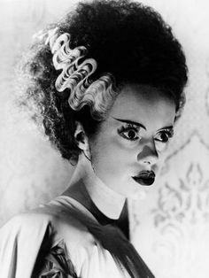 size: Photographic Print: The Bride of Frankenstein, 1935 : Entertainment Bride Of Frankenstein Hair, Frankenstein Tattoo, Bride Of Chucky, Jane Powell, Isadora Duncan, Angela Lansbury, Jerry Lewis, Bride Makeup Natural, Shower Dress For Bride