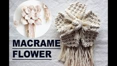 what do we need: Cotton twine rope 3 mm Flower - 40 ropes x 70 cm 1 leaf - 8 ropes x 70 cm 1 rope - 1 meter (tie up flower) ******************************** . Macrame Art, Macrame Design, Macrame Projects, Hanging Flower Wall, Hanging Basket, Micro Macramé, Macrame Patterns, Flower Tutorial, Twine