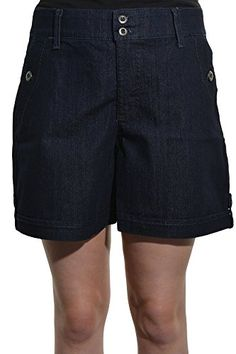 Gloria Vanderbilt Celina Casual Denim Short Rinse Wash 4 -- Continue to the product at the image link.