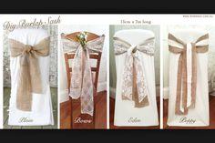 Chair sash lace hessian