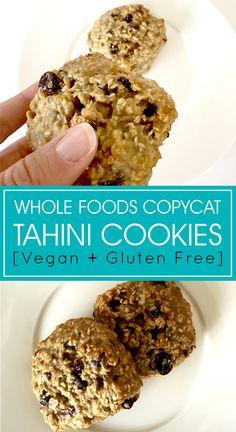 Whole Foods Copycat Tahini Cookie Recipe - dairy free, gluten free dessert that's still ooey gooey and chocolatey