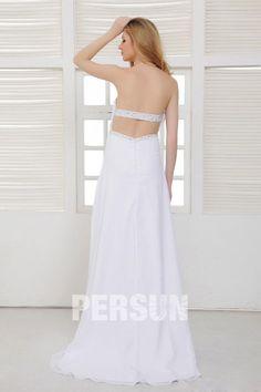 #Elegante #Impero Senza Spalline A Terra Sweep Perline #Abito da #Sposa - Persunit.com