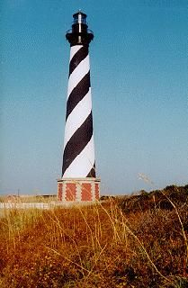 Cape Hatteras Lighthouse - Outer Banks Hatteras Island, NC - On The Southern Outer Banks Of Dare County, The Barrier Islands Of North Carolina ........CoastalGuide