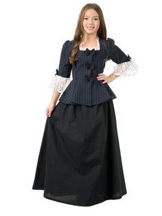 This is the Colonial Girl Child Costume - Small at a cheap price. This costume which is 'Colonial Girl Child Costume - Small consists of the. Halloween Costumes For Girls, Girl Costumes, Halloween Ideas, Children Costumes, Party Costumes, Girl Halloween, Halloween Stuff, Halloween Party, Full Length Skirts