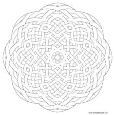 Geometric Coloring Pages Star Star mandala picture to color,