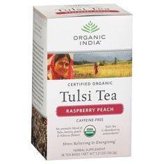 Organic India Tulsi Tea Raspberry Peach