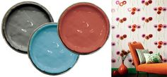 Choose the right colour scheme for your room - Paints from Farrow & Ball; Poppy wallpaper and bright fabrics